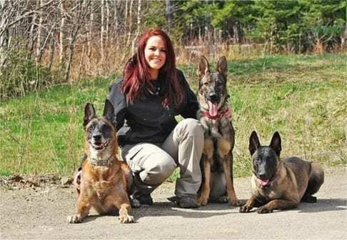 Christine Brooke with the dogs